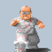 Wolfenstein 3D: Doctor Schabbs ist ein Endgegner von Wolf Classic