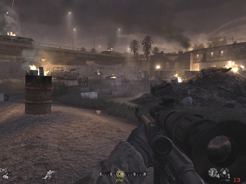 Call of Duty 4: Modern Warfare: Jetzt noch zum Tank und die Mission ist abgeschlossen.