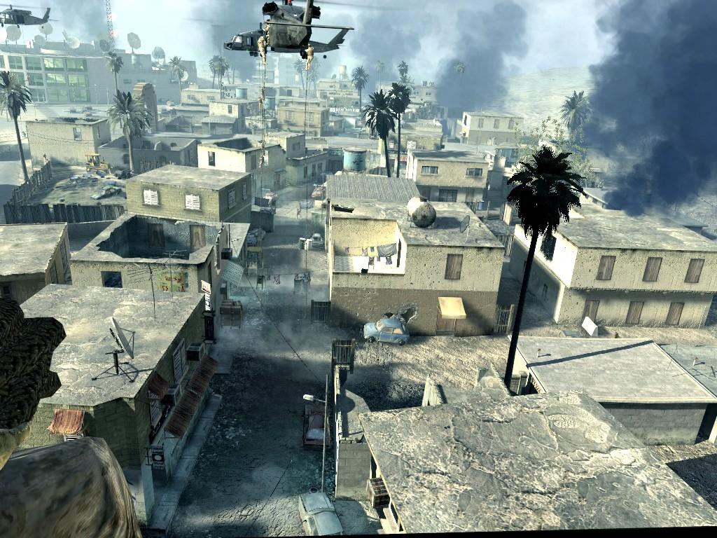 Call of Duty 4: Modern Warfare: Kurz vor der Landung und dem stürmen der TV Station.
