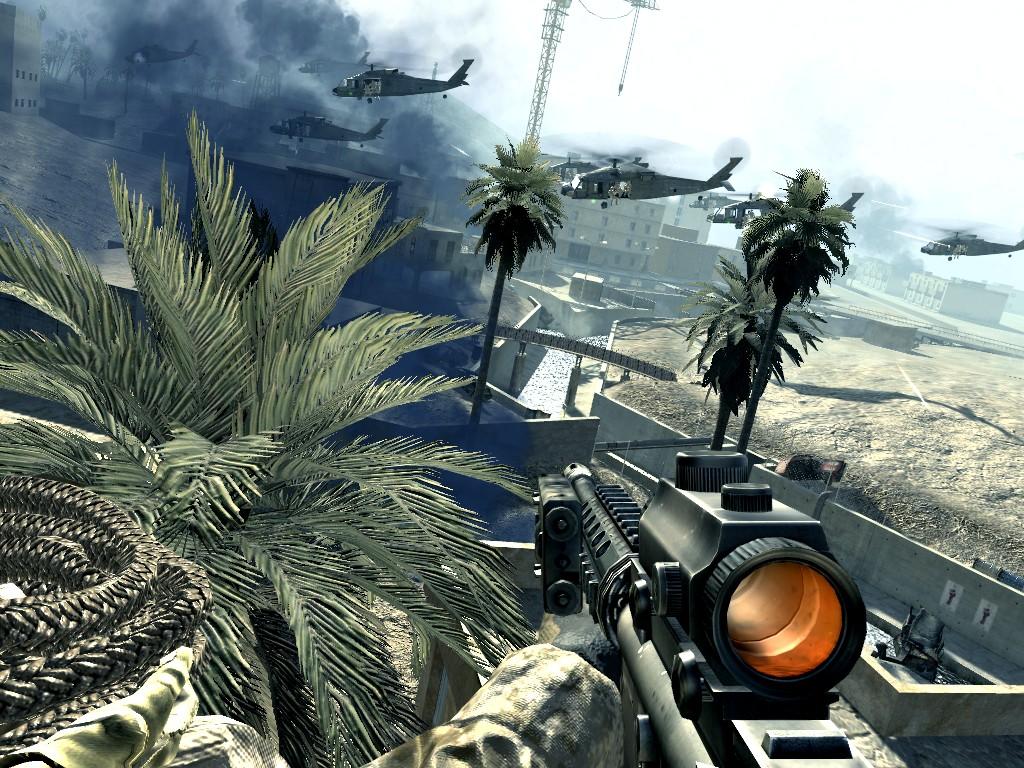 Call of Duty 4: Modern Warfare: Anflug zum Ziel: die TV Station.