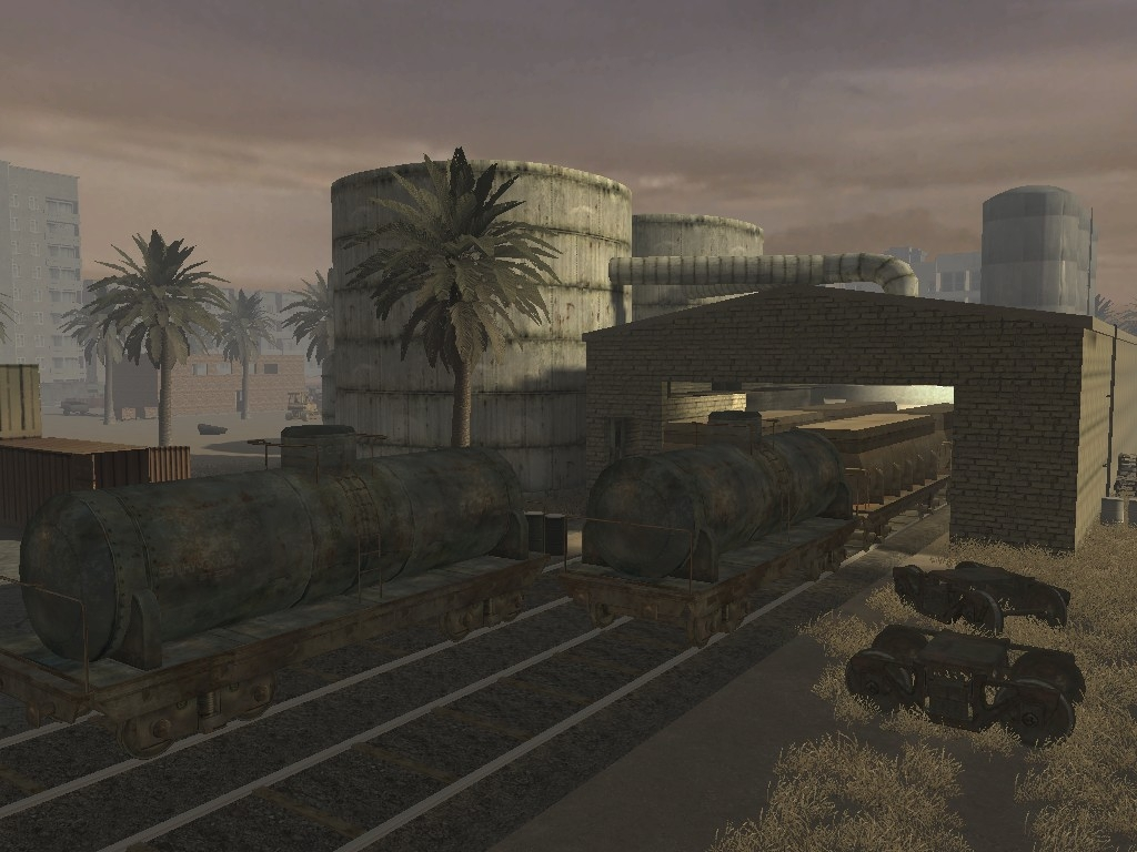 Call of Duty 4: Modern Warfare: Map Ansicht - Processing Plant