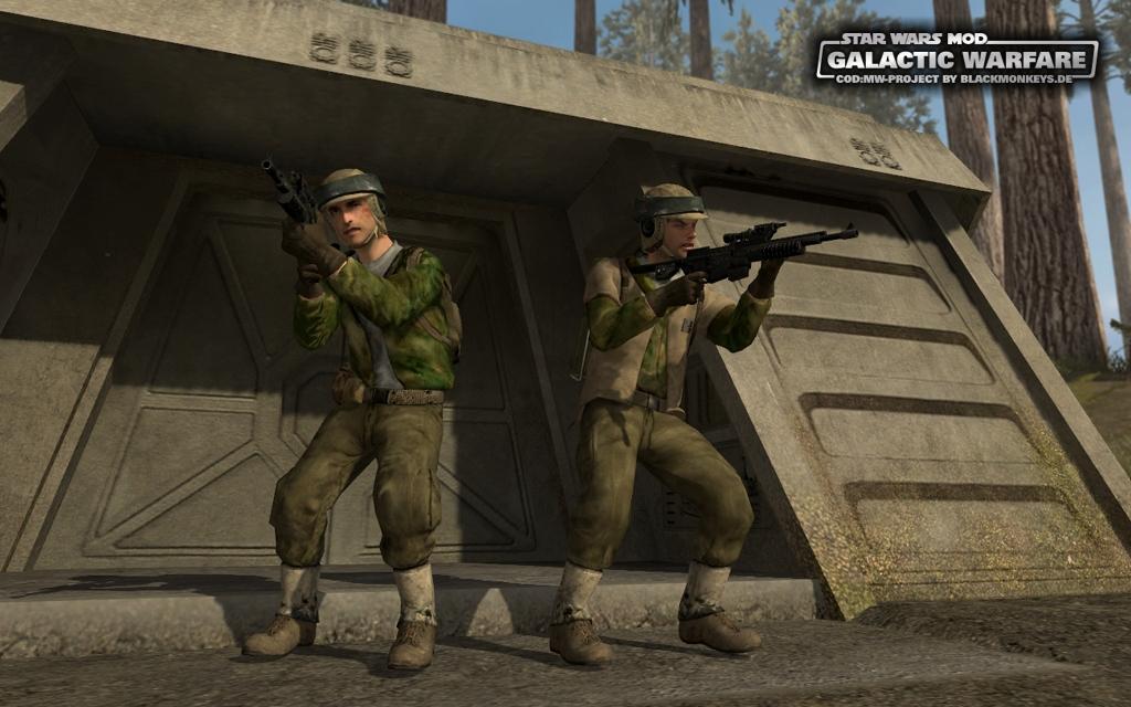 Call of Duty 4: Modern Warfare: Mod Ansicht - Star Wars Mod: Galactic Warfare für CoD 4