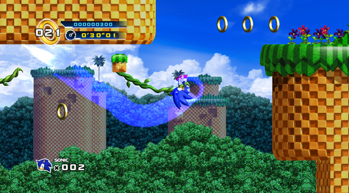 Sonic The Hedgehog 4: Episode 1: Screenshot aus der klassischen 2D-Sidescroller-Action