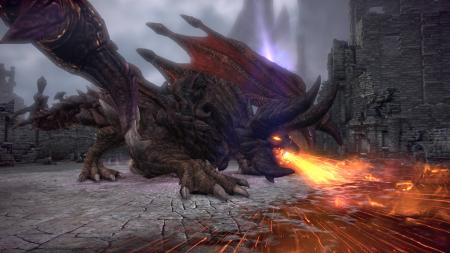 Tera: Screen zum Update Angriff der Drachen.