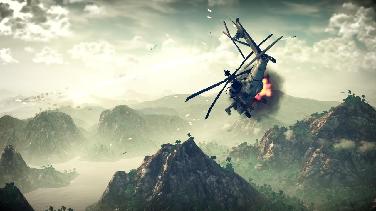 Air Assault: PC-Screenshots von der Helikopter-Simulation Apache Air