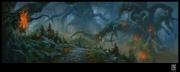 Firefall: Concept-Screenshot zeigt den dunklen Wald