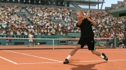 Top Spin 4: Screenshot zeigt Andre Agassi.