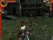 The Witcher: Gerald im Kampf, auch mit mehreren kein Thema.