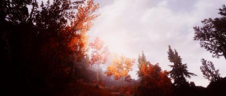 The Elder Scrolls V: Skyrim: Schönes Herbstpanorama aus The Edler Scrolls Skyrim.