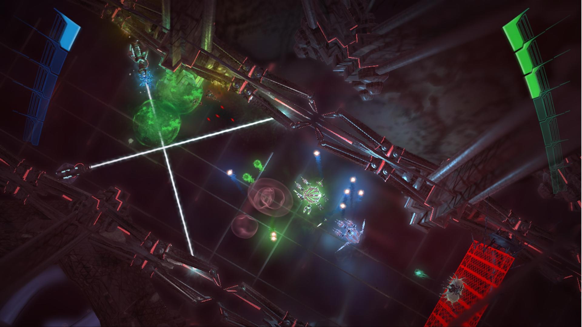 MicroBot: Screenshot aus dem Arcade-Shooter