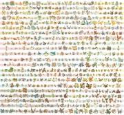 Pokémon Schwarze Edition: Alle (bisherigen) 646 Pokemon-Kreaturen auf einem Bild zusammen gefasst