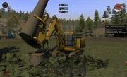 Holzfäller Simulator 2011: Screenshot von der Holzgewinnung und -verarbeitung