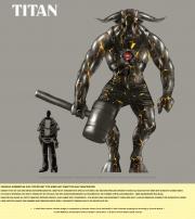 Risen: Adventskalender Art 16. Dezember - Titan Entwurf.