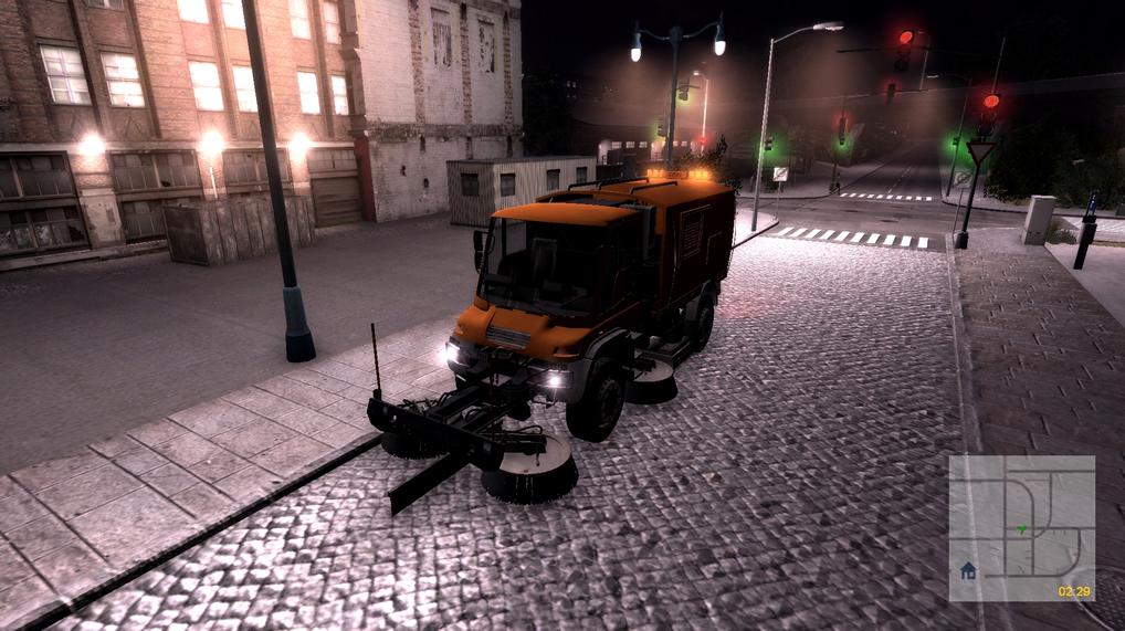 Kehrmaschinen-Simulator 2011: Screenshot aus der PC-Simulation