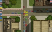 Verkehrsplaner – Die Simulation: Screen zur Simulation.