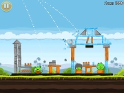 Angry Birds: Screenshot zum Artillery-Computerspiel