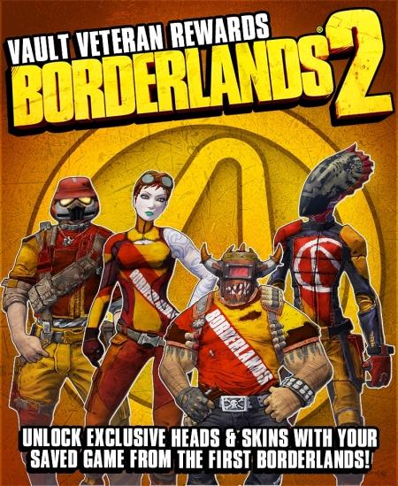 Borderlands 2 - Gearbox verspricht exklusive Heads und Skins für Borderlands Eins Besitzer