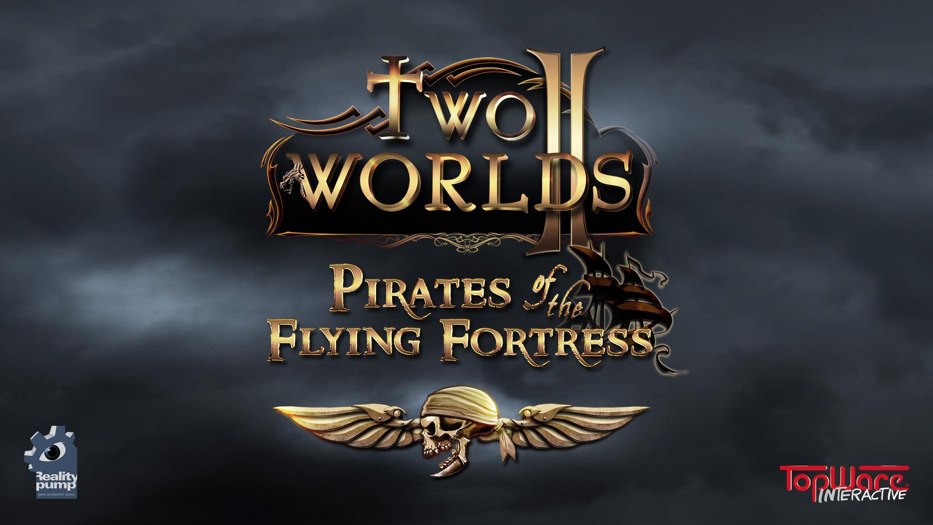 Two Worlds 2: Pirates of the Flying Fortress: Schriftzug zum Piraten Addon.