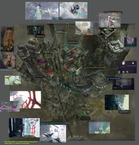The Last Guardian: The Last Guardian - komplette Karte der Spielwelt.