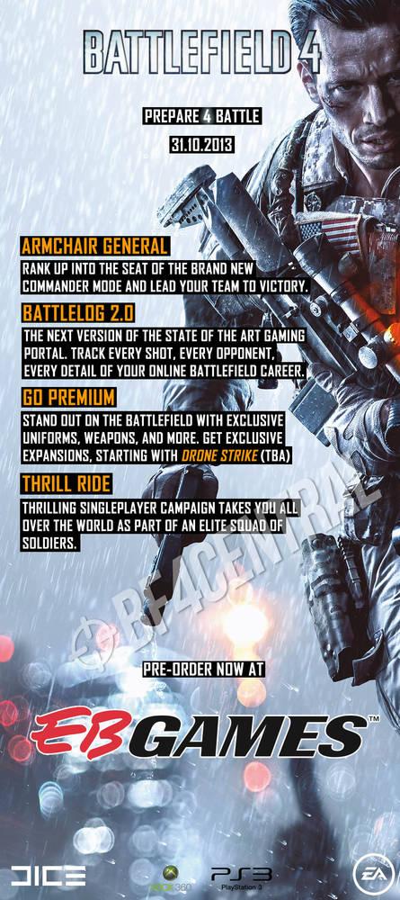 Battlefield 4: Geleaktes Poster verrät unter anderem den Release-Termin