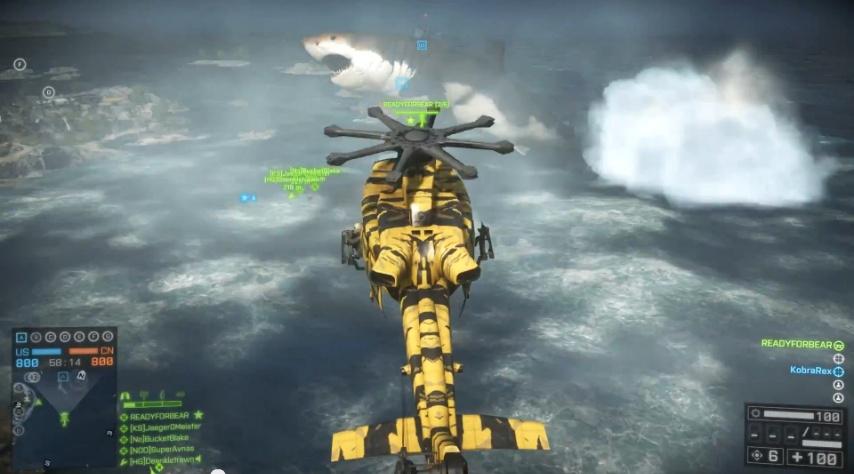 Battlefield 4: Megalodon EasterEgg - Naval Strike DLC