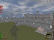 Return to Castle Wolfenstein: Map Ansicht außen.