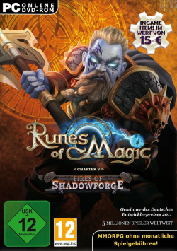 Logo for Runes of Magic: Fires of Shadowforge