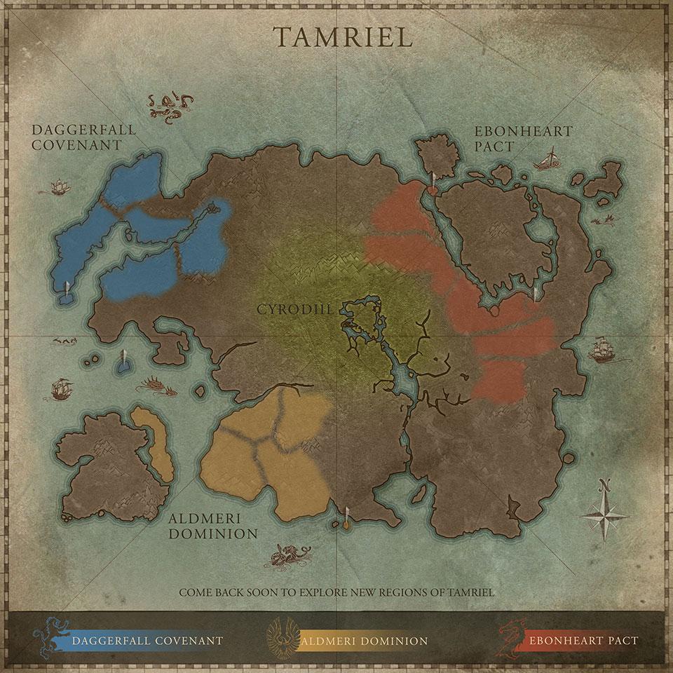 The Elder Scrolls Online: Tamriel Map