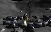 Lunar Flight: Screenshot aus dem Mondlandefährensimulator