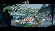 The Banner Saga: Screen zum Strategie Titel.