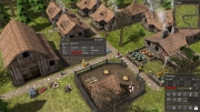 Banished: Screen zum Aufbau-Strategie Titel.