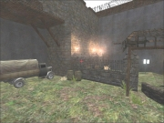Wolfenstein: Enemy Territory: Hof Innenansicht mit Fahrzeug