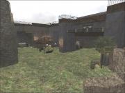 Wolfenstein: Enemy Territory: Hof Innenansicht, hinterer Teil.