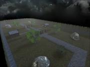 Wolfenstein: Enemy Territory: Screen aus der CTF Map Necrology aus der Final Version.