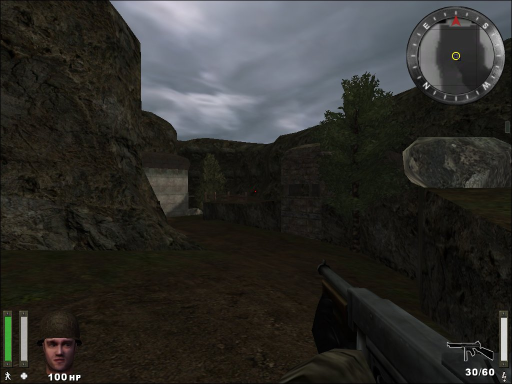 Wolfenstein: Enemy Territory: Screen aus der Map Erdenberg aus der Beta 2.