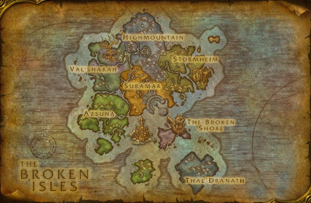 World of Warcraft: Legion - Maps - Die verheerten Inseln | ePrison ...