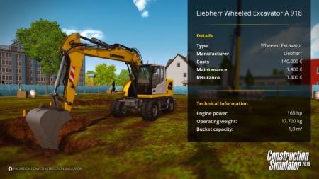 Bau-Simulator 2015: Liebherr A 918 mobile excavator - DLC