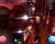 Pyroblazer: Screenshots des Futuristic Combat Racing Game.