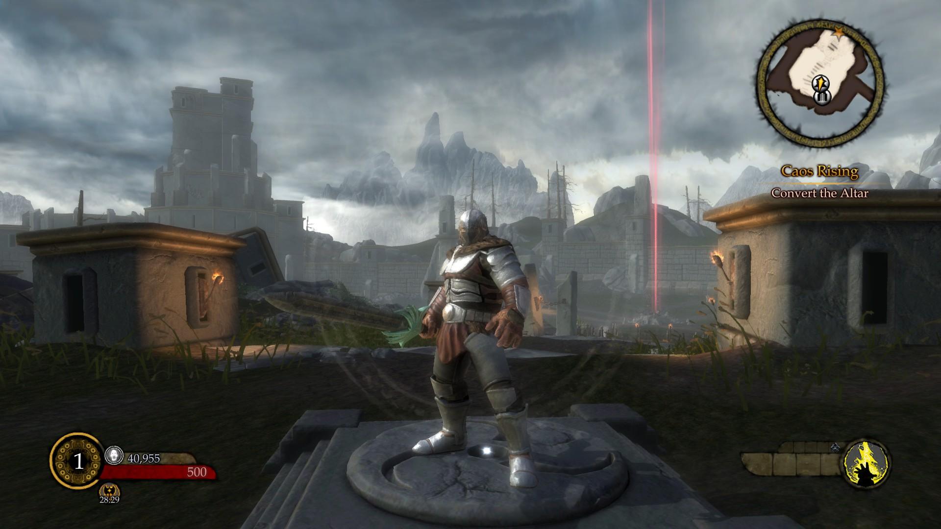 Ascend: Hand of Kul: Screen zum Titel.