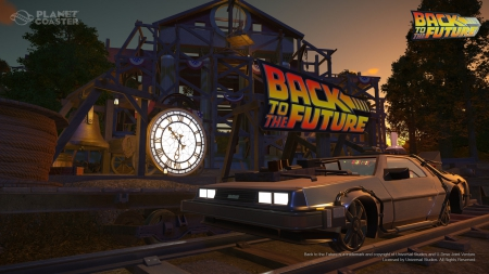 Planet Coaster - Neues Update online - DLC-Erweiterungen Back to the Future, Knight Rider und The Munsters online