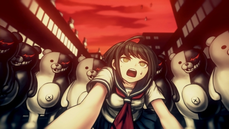 Danganronpa Another Episode: Ultra Despair Girls: Screenshot zum Titel.