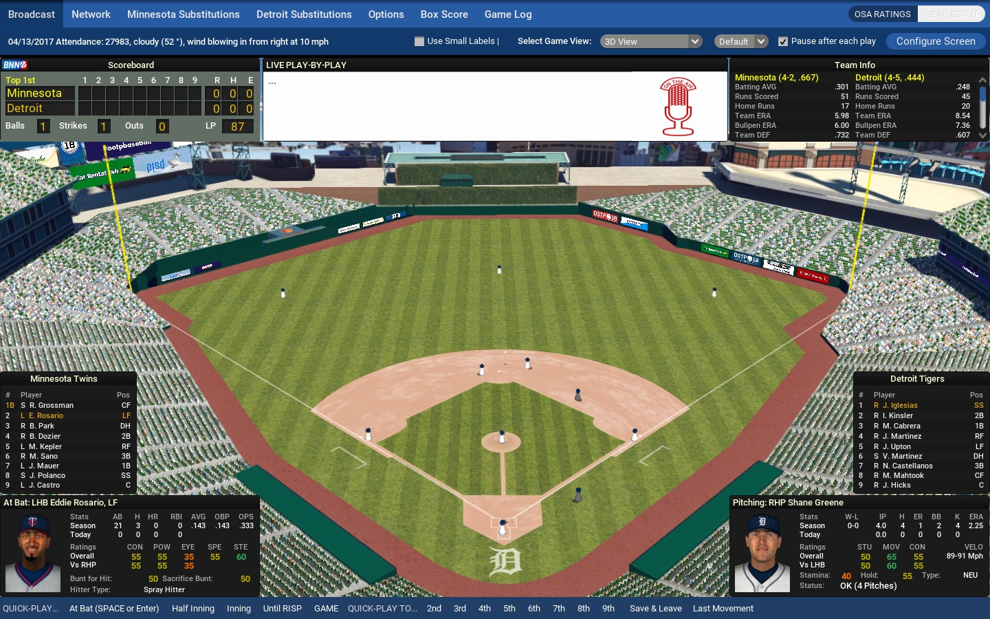 Out of the Park Baseball 18: Official Screenshots