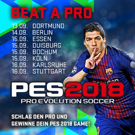 Pro Evolution Soccer 2018 - Konami kündigt Beat a Pro-Tour an