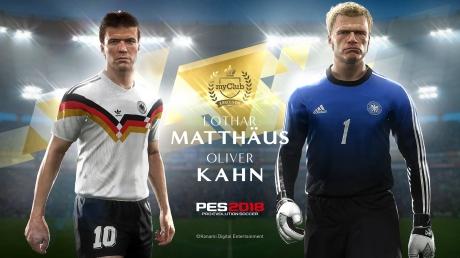Pro Evolution Soccer 2018 - Oliver Kahn und Lothar Matthäus als Legenden in PES 2018