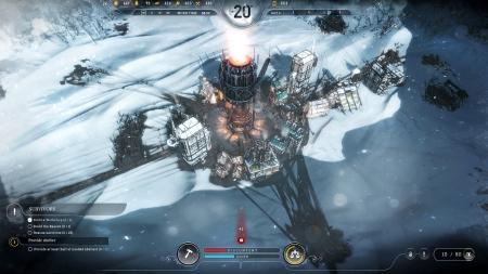 Frostpunk: Screen zum Spiel Strategie Titel Frostpunk.