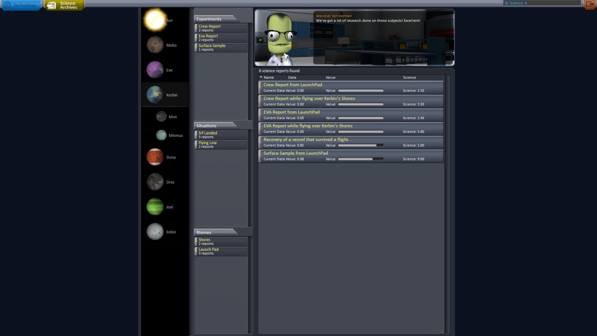 Kerbal Space Program: Screen zum Spiel.