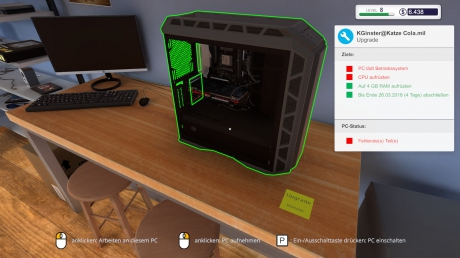 PC Building Simulator: Screenshots aus dem Spiel