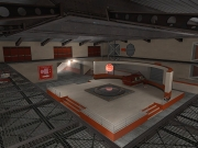 Team Fortress 2: Screen aus der Map Capture Point Starship.