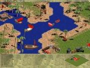 Age of Empires: Ein steinzeitlicher Hafen inklusive Fischerschiffchen, einer Bogenschützenanlage uvm.