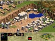 Age of Empires: Ein kleiner Wasserfall strömt aus einem Waldgebiet. Die Zivilisation befindet sich in der Eisenzeit.